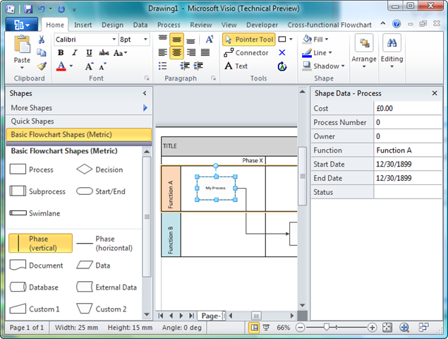Visio 2010 Containment And Cross Functional Flowcharts Bvisual