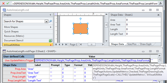 Automating Area and Perimeter Length Shape Data   bVisual - for
