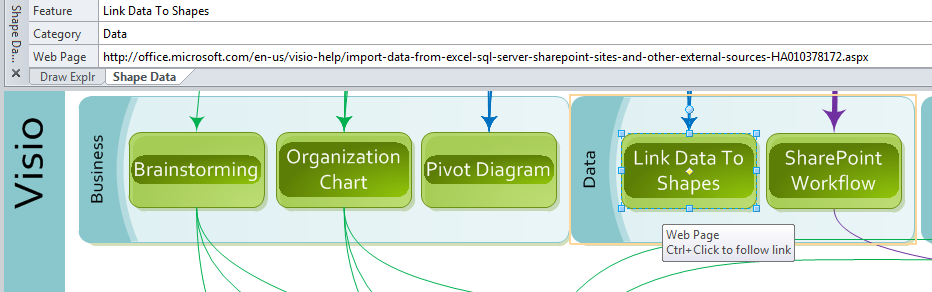 Data import export features in visio 2010 bvisual for people image ccuart Images