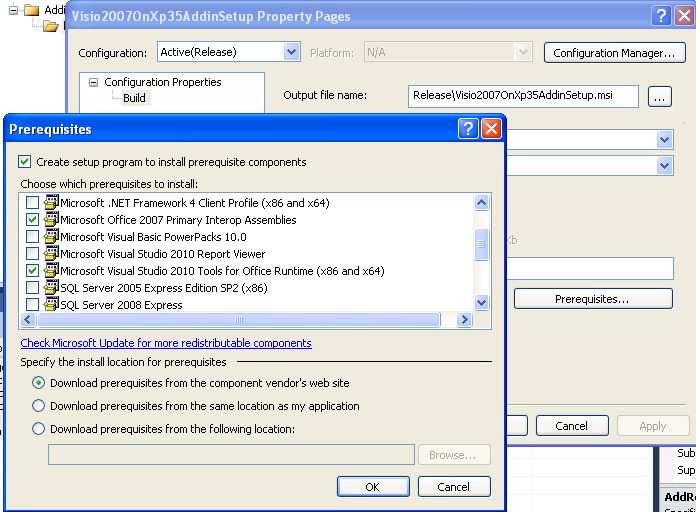 Deploying a visio 2007 or 2010 vsto add in with visual - Visual studio tools for office runtime ...