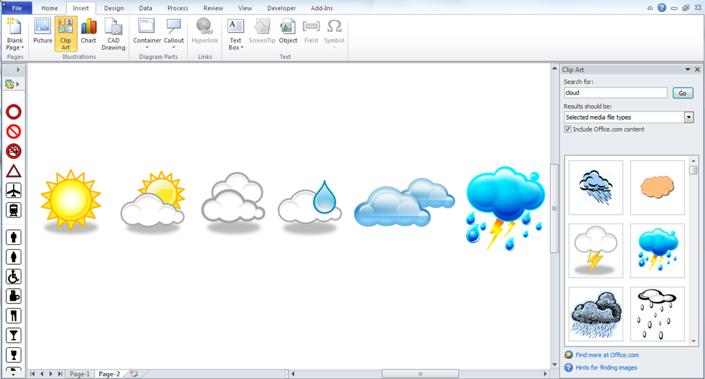 Make Your Own Visio Data Graphic Icons Sets … automatically ...