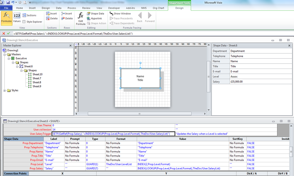 Visio 2013 Org Chart Stencils: Creating a Custom Org Chart Template with Extra Properties ,Chart