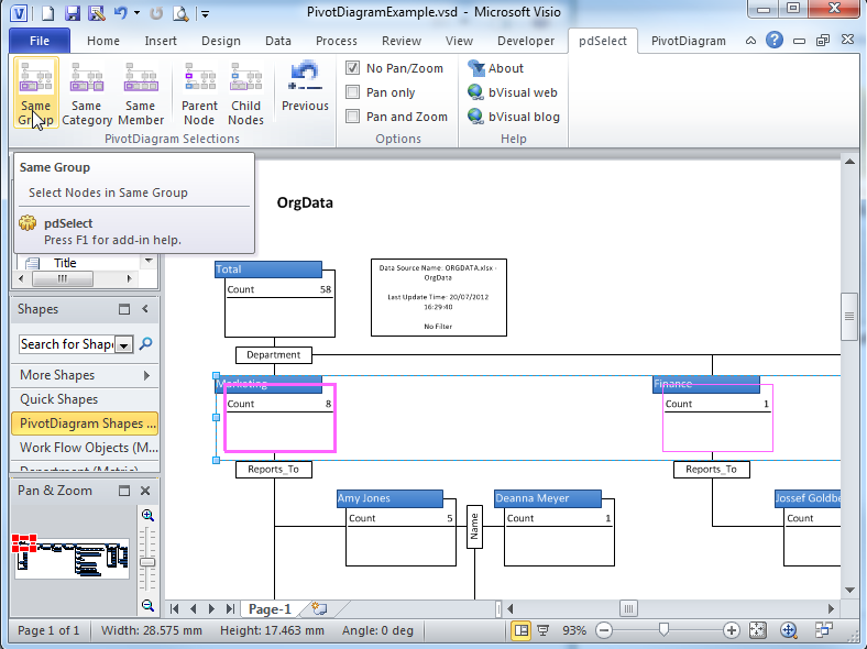 how to change shapes in visio 2013