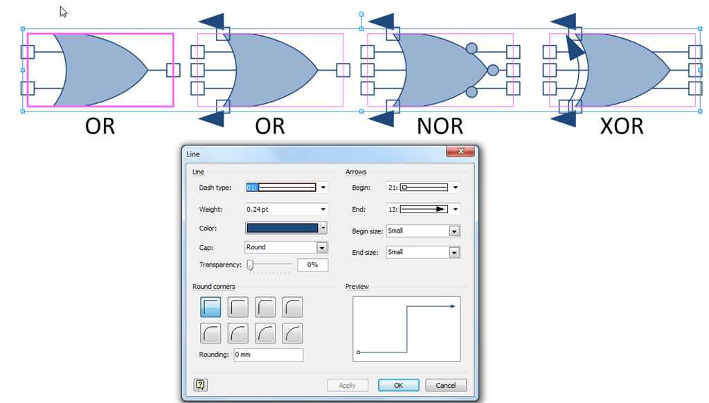 A Visio Logic Gate with Logic   bVisual - for people