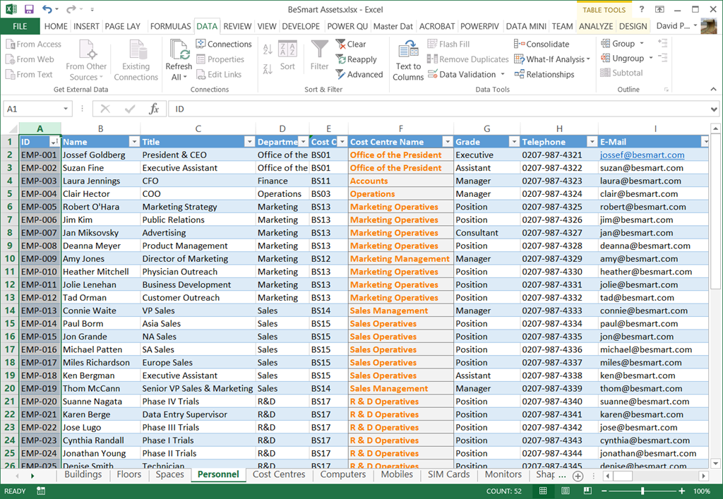 Updating the file path of data linked Excel tables in Visio