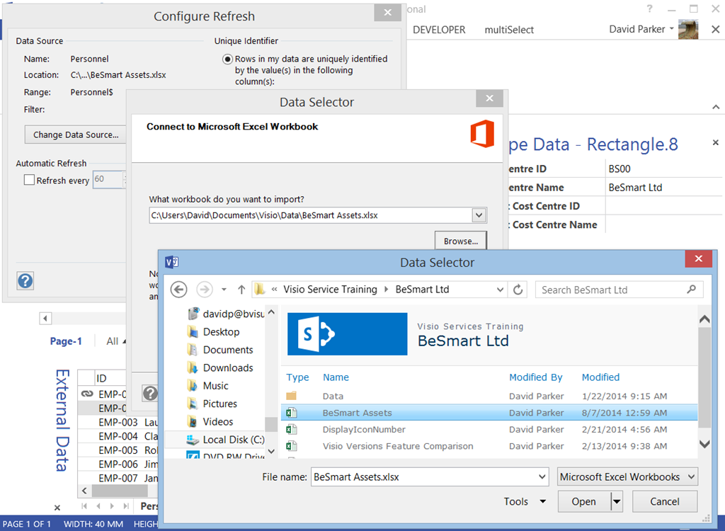 Data Refresh on Open  Visio Guy