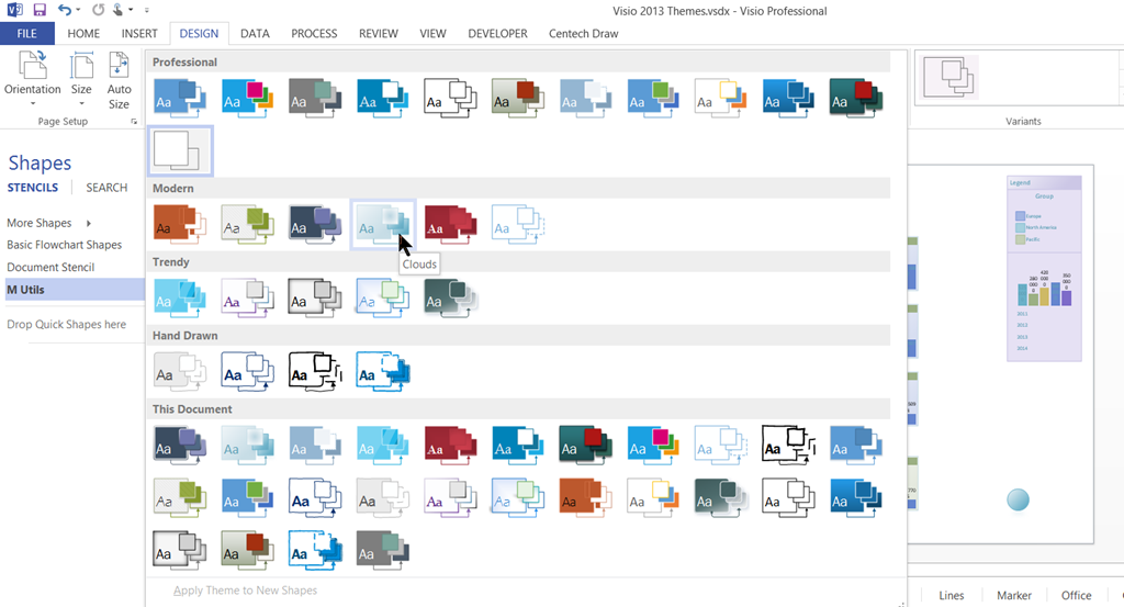 Microsoft Visio 2013 Themes | bVisual - for people interested in ...