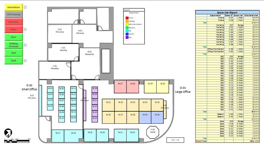 Visio 2016 Office Floor Plan Template