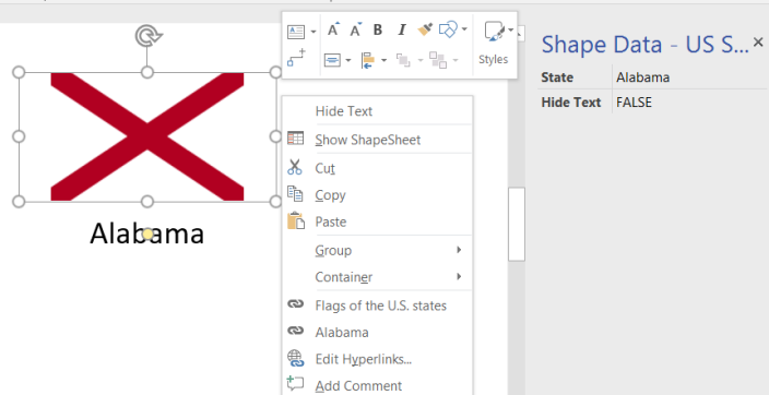 US State Flags For Visio BVisual For People Interested In - Visio us map shape