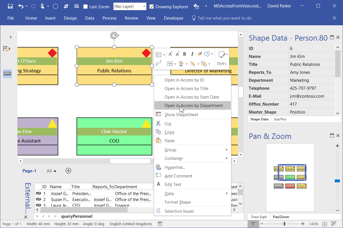 Opening an MS Access form from a Visio shape | bVisual - for ...