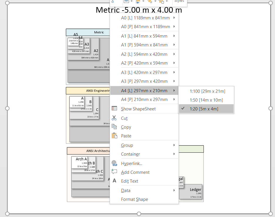 Switching Metric And US Units In Visio Floor Plans BVisual - Us map visio