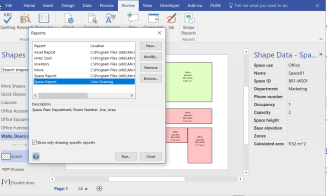 Run specific Shape report in Visio