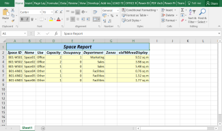 The unsaved Excel workbook opens