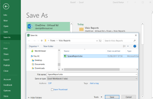 Save by overwriting the Excel file specified in the flow