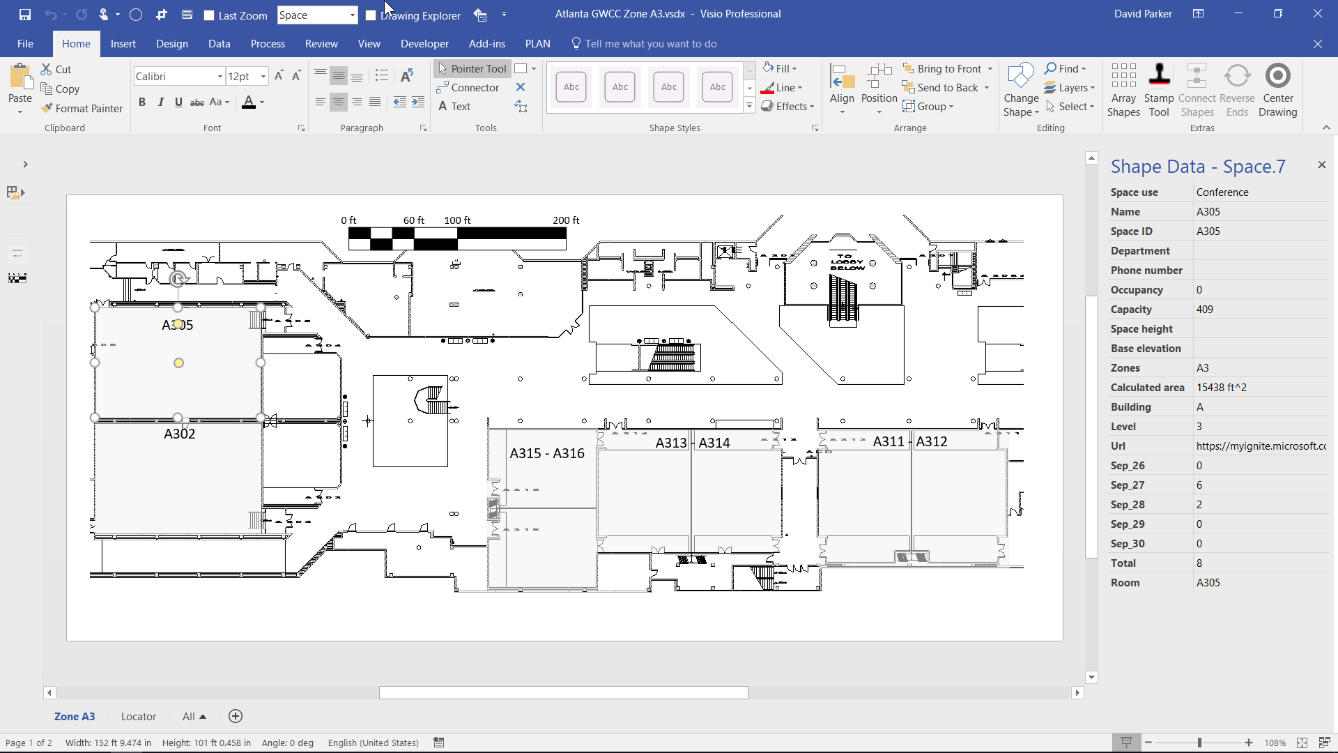 Create a visual report of Project data in Excel or Visio