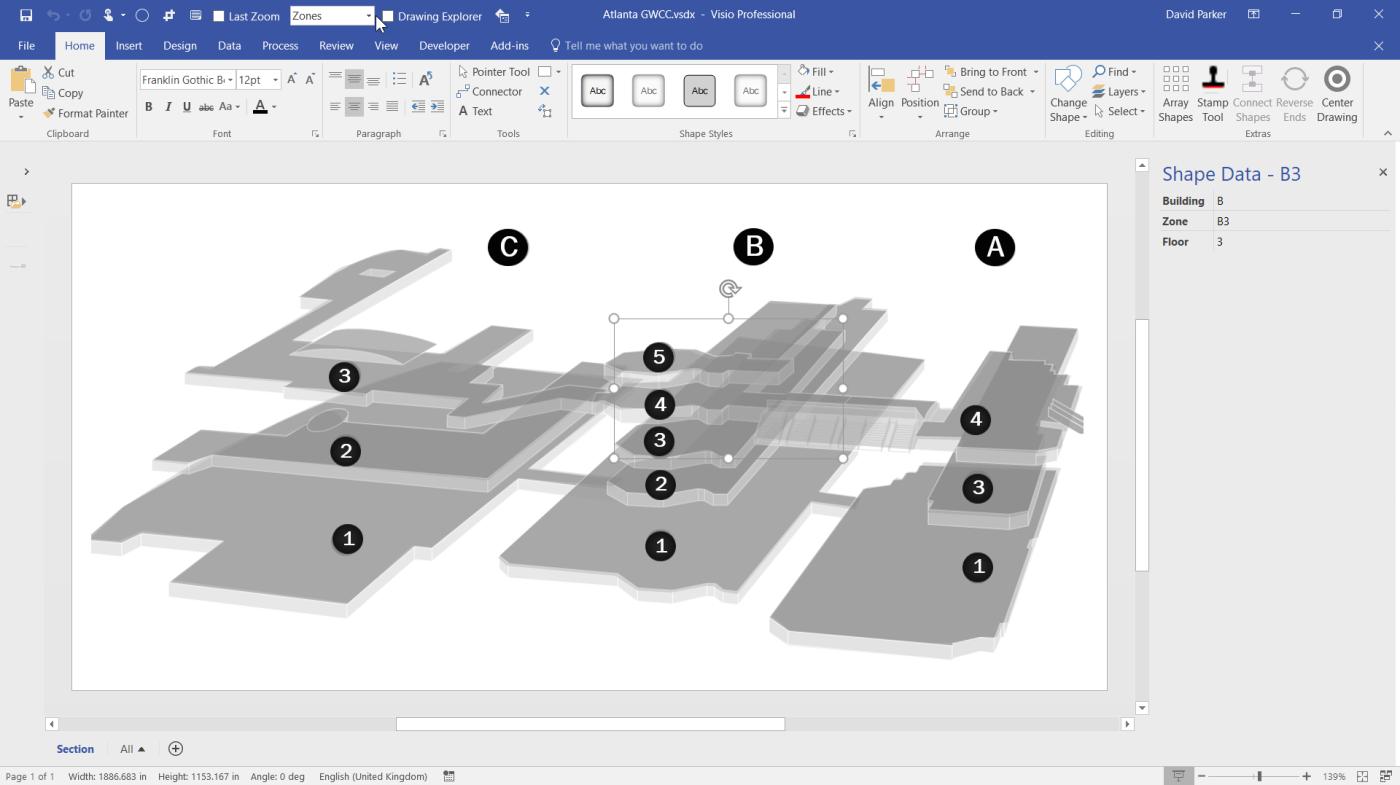 Previewing the #Visio Custom Visual in #PowerBI | bVisual