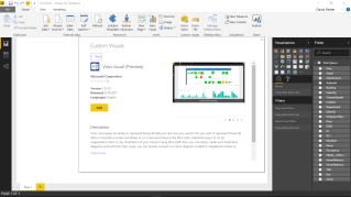 Import the Visio custom visual from store