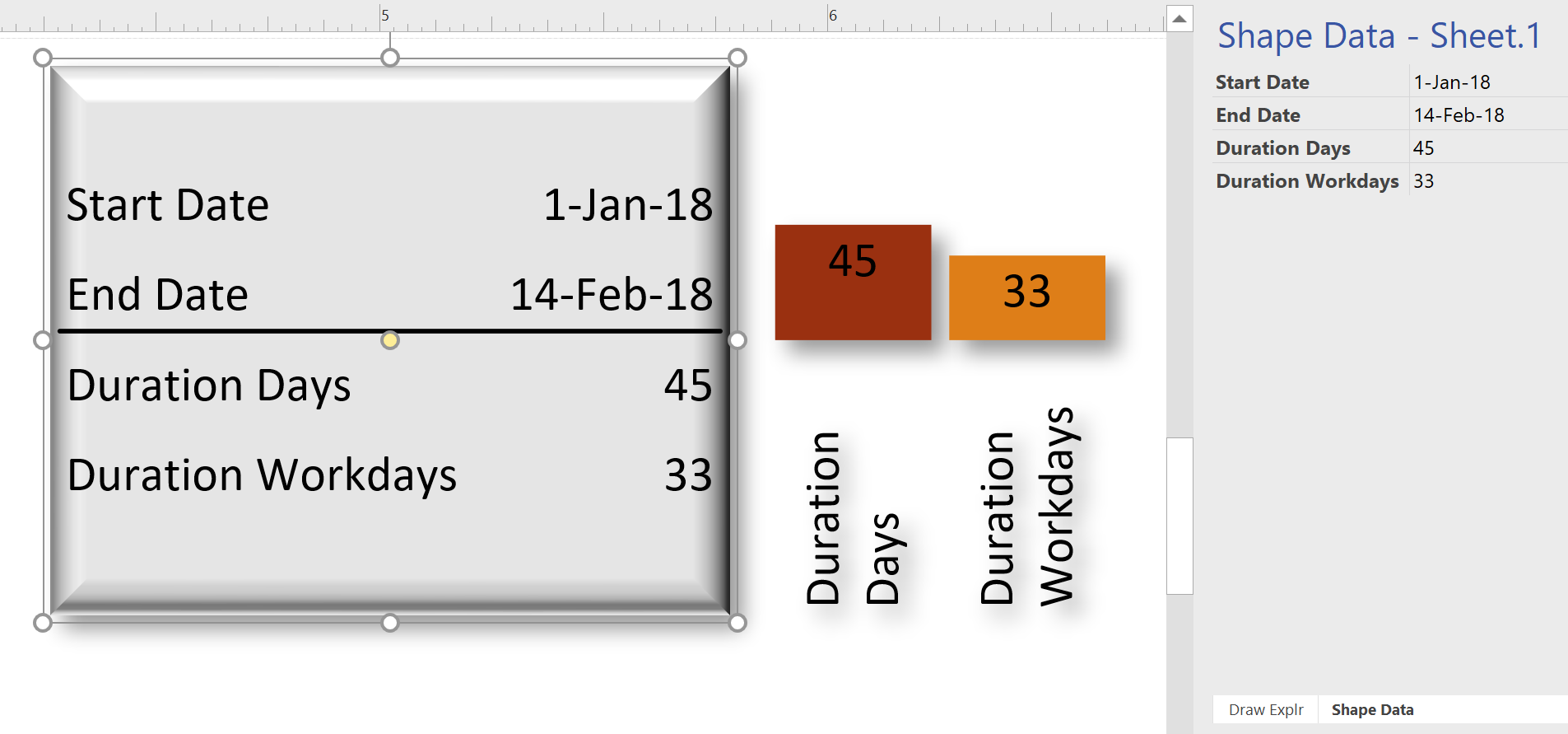 Using EVALCELL() in #Visio to calculate Workdays | bVisual