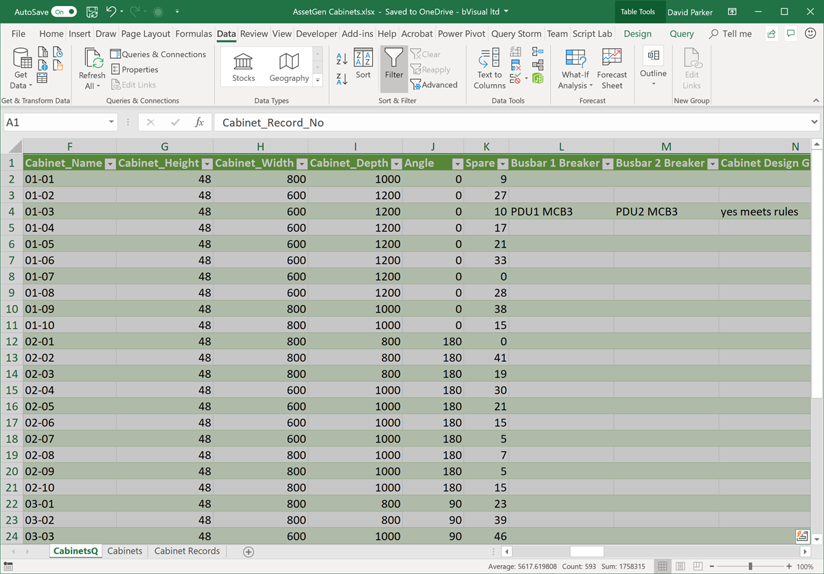 Changing Visio Shape Size and Angle with Linked Data