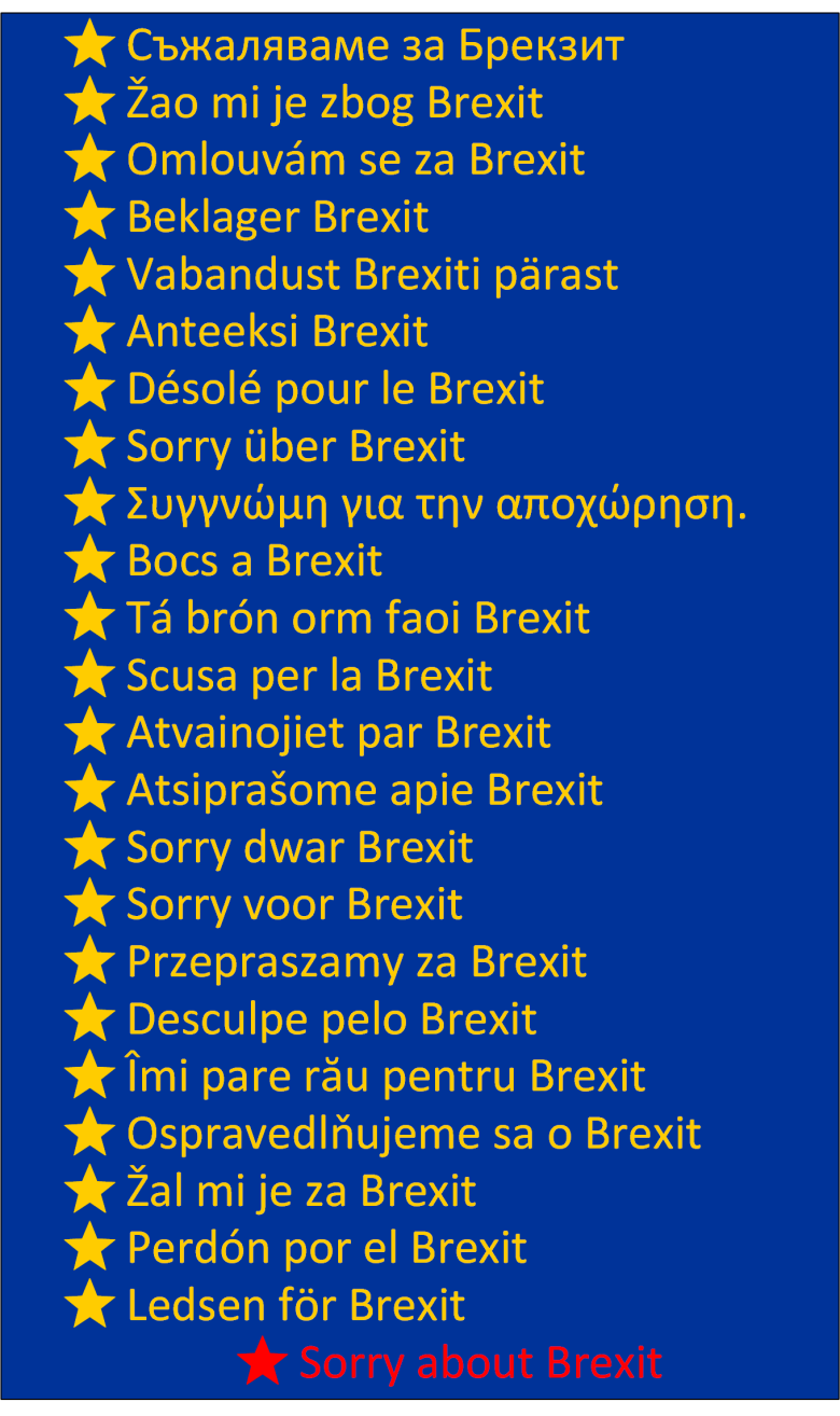 Sorry about Brexit