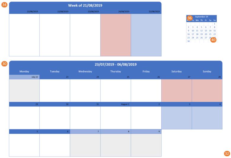 Week Nums in Calendars